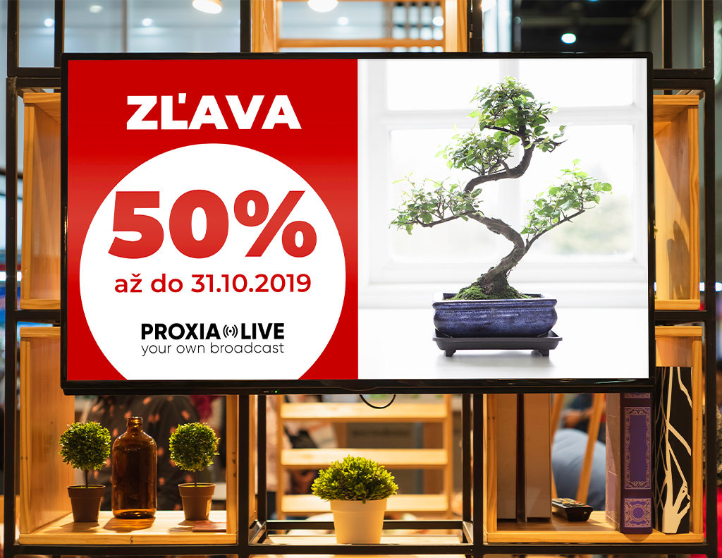 Infopanel pre predajne | Proxia.Live