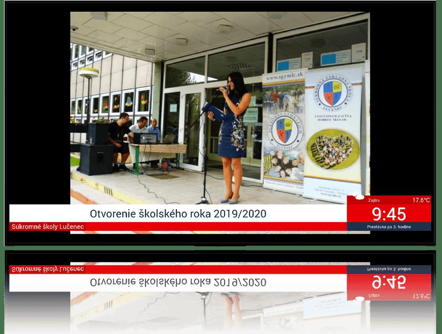 Elektronická nástenka pre školy - školská galéria | Proxia.Live